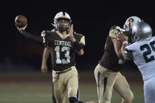 Collins Turner threw for four touchdowns and ran for another to spark Central past Reitz, 42-0, on Friday night at Central Stadium. He finished 8-for-16 for 248 yards with no interceptions.