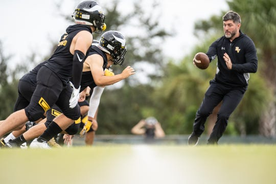 Bishop Verot High School defensive coordinator John Mohring was promoted to head coach of the Vikings while former head coach Josh Vogelbach will focus solely on his duties as offensive coordinator.