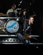 Eric Church gets fired up during the start of the second leg of his Double Down Tour on Friday night at the Resch Center in Ashwaubenon.