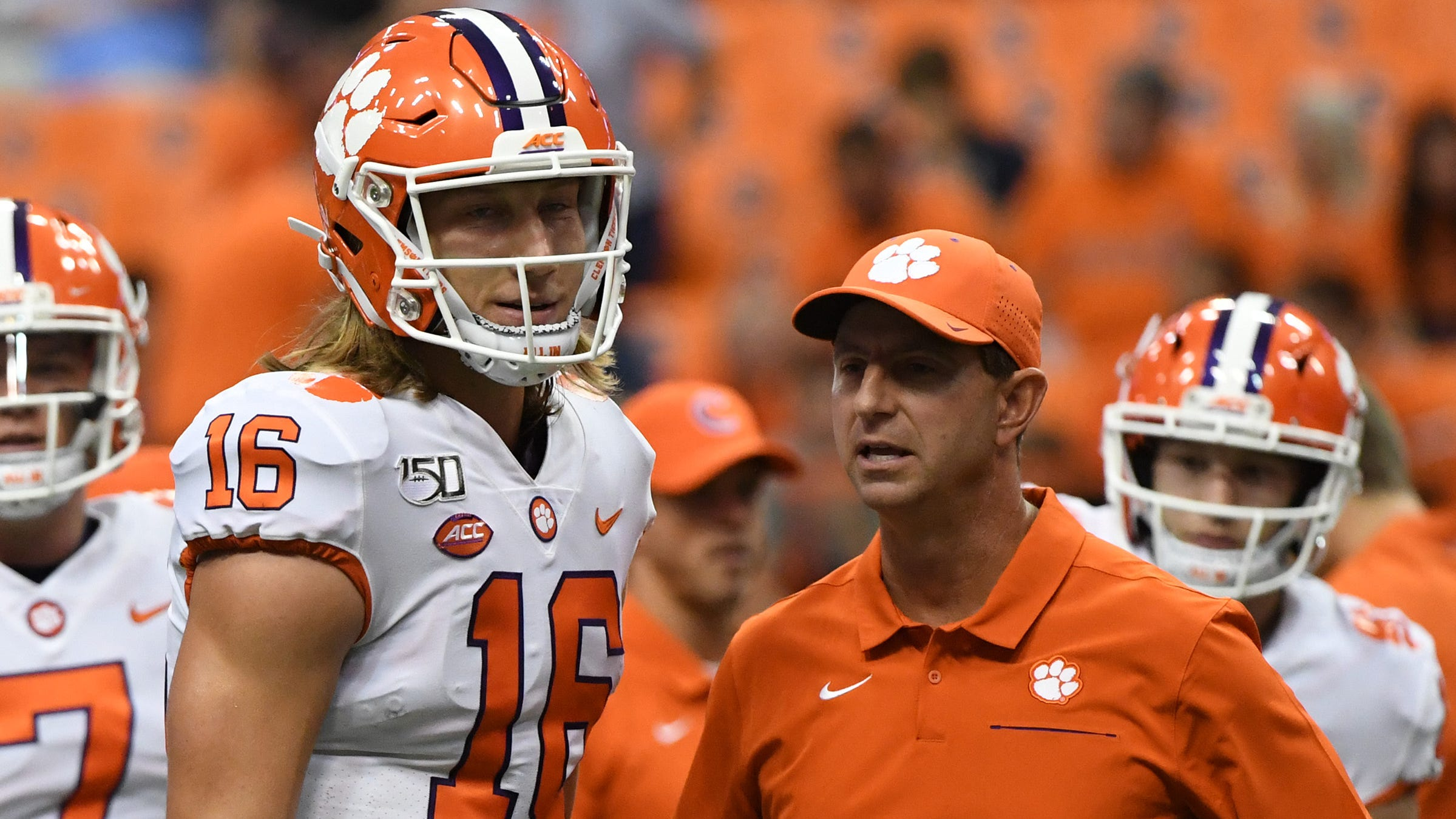 Clemson football coach Dabo Swinney says QB Trevor Lawrence isn't hurt