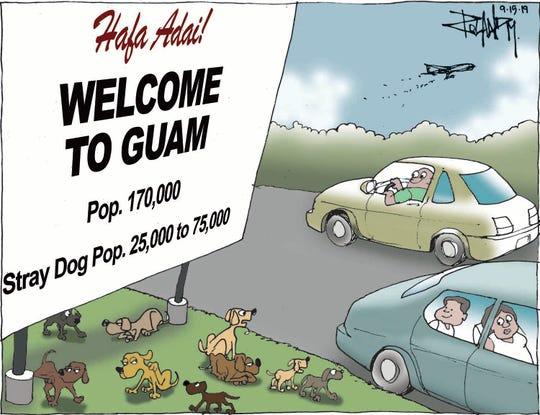 Sunday cartoon on stray dogs