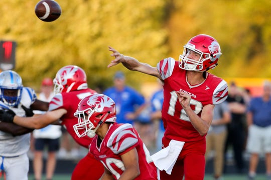 Fishers QB Marcus Roux had a career night in the Tigers' win over Franklin Central.