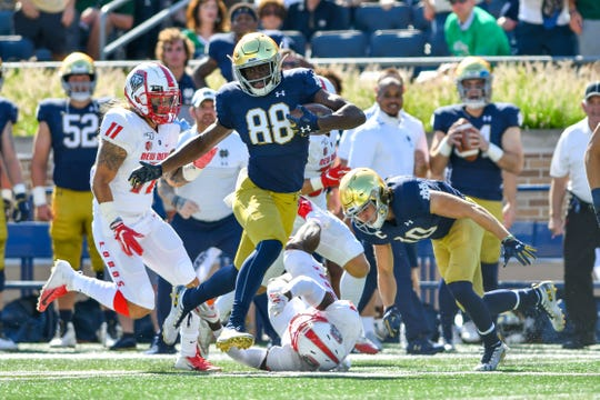 Javon McKinley is enjoying a career resurgence at Notre Dame