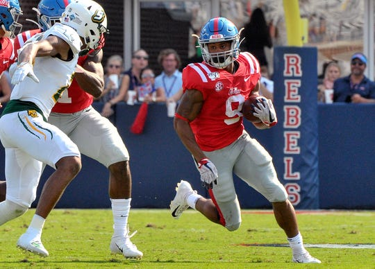 Ole Miss running back Jerrion Ealy.
