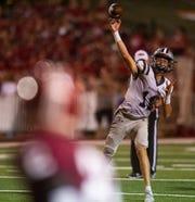 Farragut's Gavin Wilkinson (11) finds a pass during the Oak Ridge and Farragut football game on Friday, September 13, 2019 at Oak Ridge High School.