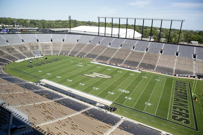 Ross-Ade Stadium prior to a NCAA football game between the Purdue Boilermakers and the Texas Christian University Horned Frogs, Saturday, Sept. 14, 2019 in West Lafayette.