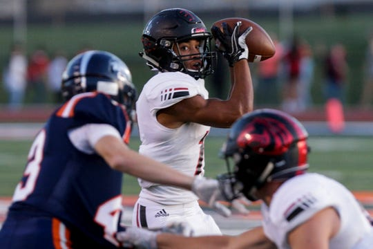 Bishop Johnson scored touchdowns of 46 and 56 yards against Harrison and opened the second half with a 65-yard kickoff return.