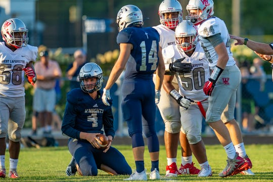 West Lafayette's 50-0 win over Central Catholic Friday was the second straight game with the mercy rule for both the Red Devils and Knights.