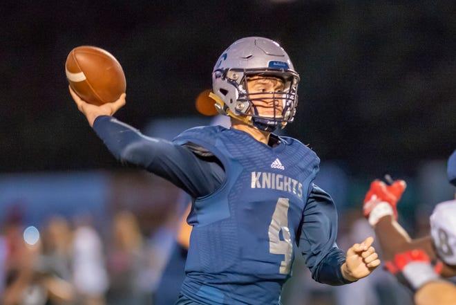 Central Catholic sophomore quarterback Clark Barrett.
