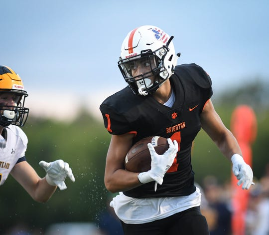 Brighton's Ruben Salinas leads Livingston County with 18 receptions.