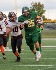 Howell's Jonah Schrock ran for 183 yards and two touchdowns in a 27-14 victory over Northville on Friday, Sept. 13, 2019.
