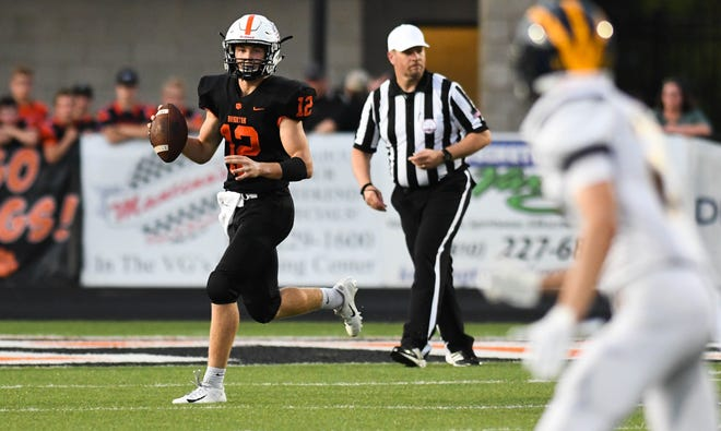 Brighton quarterback Colby Newburg has thrown 13 touchdown passes and only one interception this season.