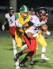 New Albany's Myles Johnson scored two touchdowns against Seymour Friday.