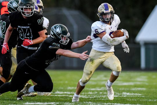 Hunter Knaggs is the leading rusher for a Fowlerville team that has racked up 1,963 yards on the ground.