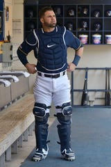 Milwaukee Brewers catcher Manny Pina had started 36 games and played in 35 others, mostly as a pinch hitter, before being injured.