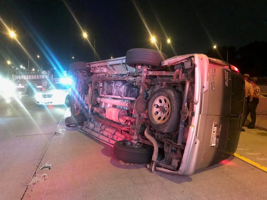 Dead Horses was traveling back from Chicago on I-94 late Thursday when they were struck by a reckless driver that fled the scene. The van flipped on its right side and was totaled. No one in the van was seriously hurt.