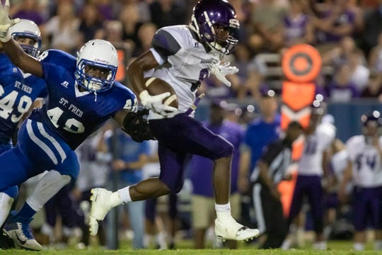 Mangham traveled to St. Frederick's in Monroe, La. on Sept. 13 and won the game 39-12.
