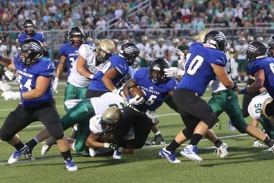 Sterlington running back Dallas Reagor (26) ran 23 times for 246 yards and two touchdowns in a 40-19 win over OCS in Week 2. The Panthers' offensive line faces a big challenge in Oak Grove's massive defensive front.