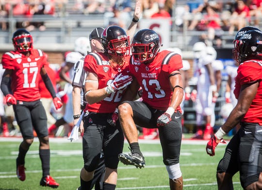 Ball State faces off against Florida Atlantic at Scheumann Stadium Saturday, Sept. 14, 2019.