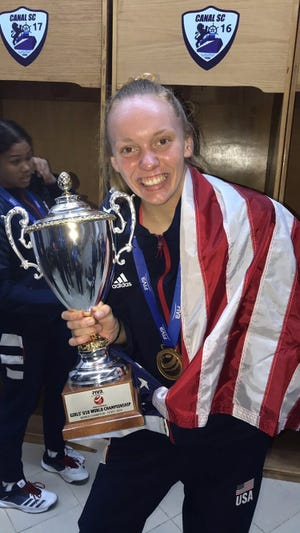 Utica senior Emily Londot has 16 kills Saturday to lead USA Volleyball to the gold medal in the 18U World Championships in Egypt.