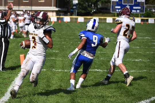Justin Wagner (3), shown here last season scoring against St. Mary, has had a strong start in his first two games this season for Park Ridge.