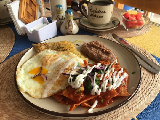 At Sabores Mexico, you can get Mexican breakfast items like chilaquiles.