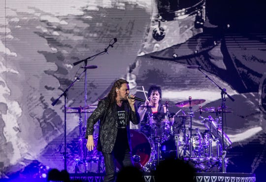 Maná performs at Talking Stick Resort Arena in Phoenix on Friday, Sept. 13, 2019.