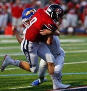 Ketcham's Matt Warner (#9) scored a touchdown and had the winning two-point conversion as the Indians stunned Mahopac, 20-19, on Sept. 13.