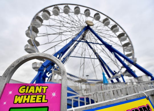 The Giant Wheel ride is seen Saturday, Sept. 14, at the York Fair. Two people were injured on the ride the night before. Dawn J. Sagert photo