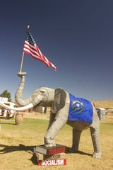 A sculpture of an elephant at the fifth annual Basque Fry on Sept. 14, 2019.