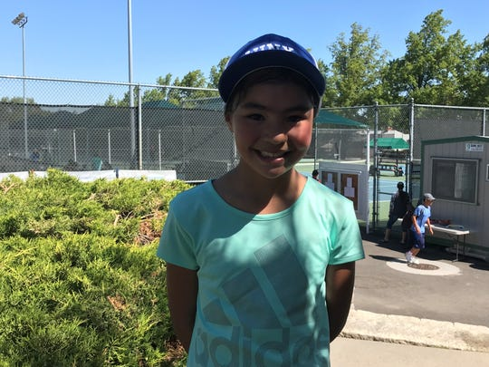 Shae Johnson is a 9-year-old tennis prodigy from South Lake Tahoe.