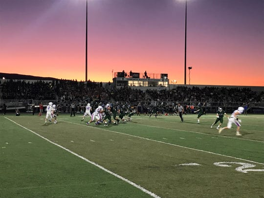 A file photo of Damonte High playing Reno High on Sept. 14, 2019.