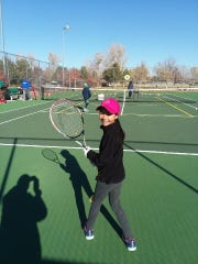 Shae Johnson is 9 and can beat you at tennis