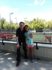 Shae Johnson is a 9-year-old tennis prodigy.