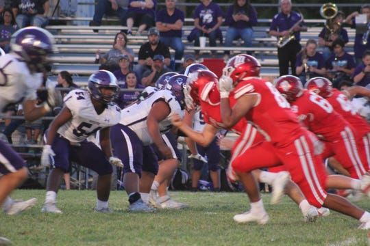 The Miles Bulldogs hosted the Roscoe Plowboys on Friday, Sept. 13, 2019, at Gary Krejci Memorial Stadium in Miles.