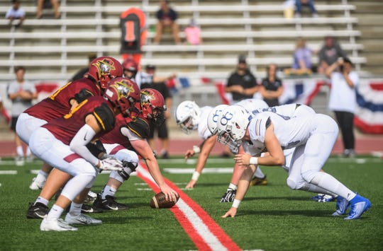 Roosevelt faces O'Gorman during the President's Bowl at Howard Wood Field on Saturday, Sept. 14, 2019.