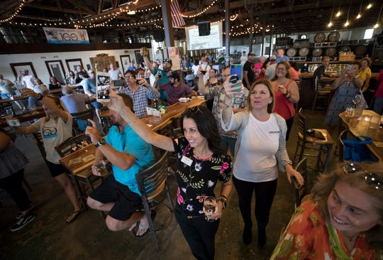 The Press Journal celebrated 100 years of being part Indian River County during a celebration at Walking Tree Brewery on Friday, Sept. 13, 2019, in Vero Beach. The brewery collaborated with the newspaper and produced three beers named Ink By The Barrel, Paper By The Ton and Hot Off The Press commemorate the event.
