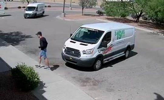 A package thief took more than $100,000 in broadcasting equipment from a FedEx facility at 1701 Hawkins Blvd., police say