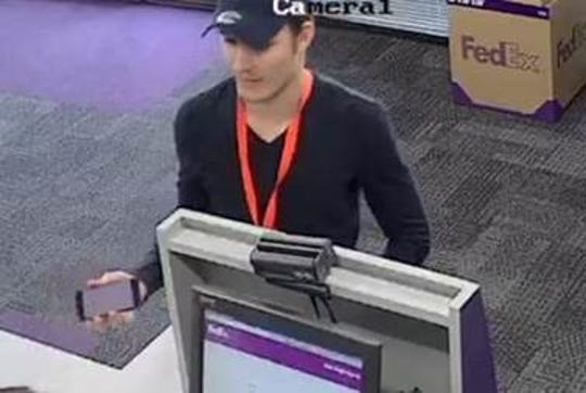 El Paso police need the public's help in identifying a package thief who took more than $100,000 in broadcasting equipment from a FedEx facility.