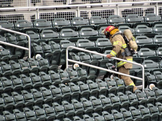 Firefighters, their families and supporters from across the Borderland took part in the 9/11 Memorial Stair Climb on Saturday morning, Sept. 14, 2019, at Southwest University Park in Downtown El Paso in honor of the victims of the terrorist attacks on Sept. 11, 2001.