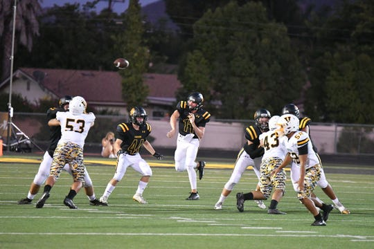 Quarterback Ben Gulbranson and Newbury Park open Marmonte League play against St. Bonaventure on Thursday night.