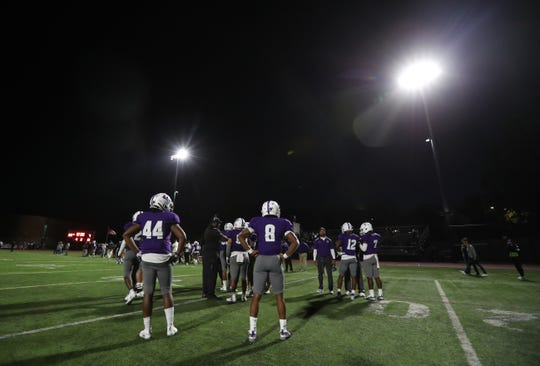 New Rochelle beat North Rockland 37-7 in the first Friday game under the new lights at home Sept. 13, 2019.