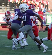 New Rochelle's Jaheim Gregory runs for a touchdown during a game with North Rockland at New Rochelle Sept. 13, 2019. New Rochelle won 37-7.