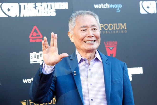 US actor George Takei arrives for the 45th annual Saturn Awards at The Avalon Hollywood in Los Angeles, Calif. on Sept. 13, 2019.