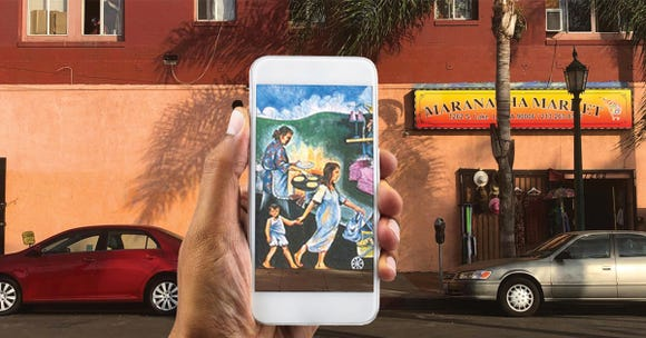 Snapchat Lens brings old mural back to life