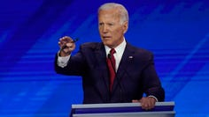 Former Vice President Joe Biden at the Democratic debate in Houston on Sept. 12, 2019.