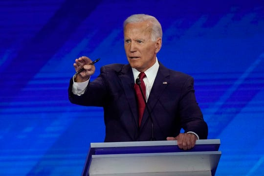 Former Vice President Joe Biden at the Democratic debate in Houston on Sept. 12, 2019.