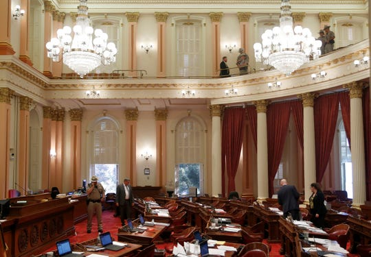 Westlake Legal Group 7cce49d3-1c8e-4e66-8318-5ff7823520a0-AP_California_Legislature Protester dumps red liquid on California lawmakers, forcing evacuation of Senate floor