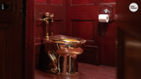 The theft caused significant damage and flooding because the toilet was connected to the palace plumbing system, police said.