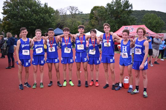 The Horseheads boys cross country team won the title at the Owego Invitational on Sept. 14, 2019 at Owego Free Academy.